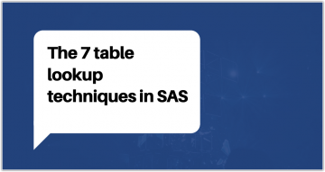 7 Table lookup techniques for SAS Programmers