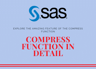 How to use compress function in SAS?
