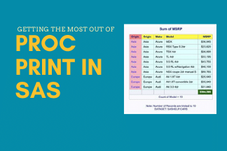 3 Little Tricks To Achieve The Best Results In PROC PRINT SAS.